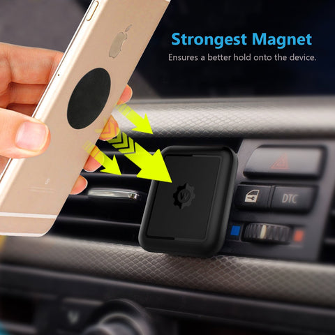 WixGear [2 PACK] Universal Air Vent Magnetic Car Mount Phone Holder, for Cell Phones and Mini Tablets with Fast Swift-Snap Technology, [New Rectangle Design]