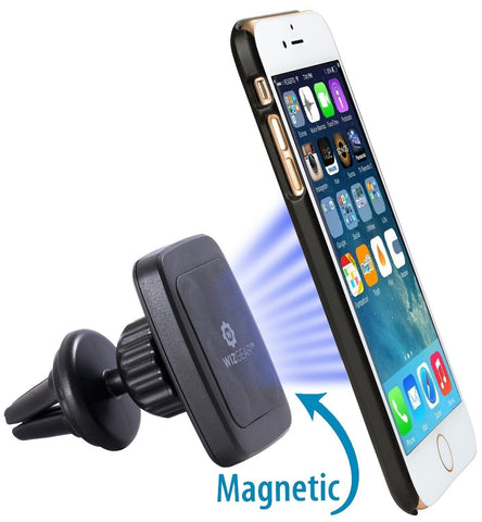WizGear Universal Air Vent Magnetic Car Mount Holder, for Cell Phones and Mini Tablets with Fast Swift-Snap TM Technology, Magnetic Cell Phone Mount