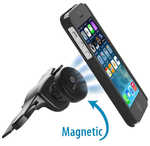 WizGear Universal CD Slot Magnetic Car Mount Holder, for Cell Phones and Mini Tablets with Fast Swift-SnapTM Technology, Magnetic Cell Phone Mount