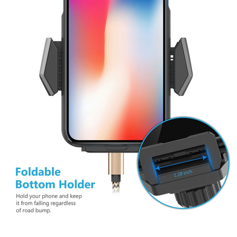 WizGear Universal Smartphone Car Air Vent Mount Holder Twist Lock Cradle Compatible with iPhone X 8 8 Plus 7 7 Plus SE 6s 6 Plus 6 5s 5 4s 4 Samsung Galaxy S6 S5 S4 LG Nexus and Other Phones