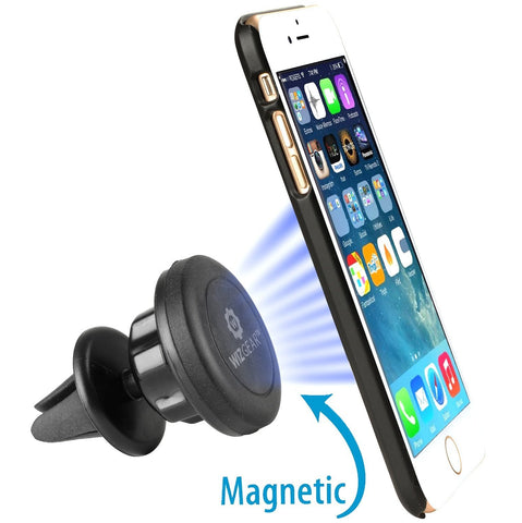 WizGear Universal Air Vent Magnetic Car Mount Holder, for Cell Phones and Mini-Tablets with Fast Swift-Snap (TM) Technology, With Swivel Head