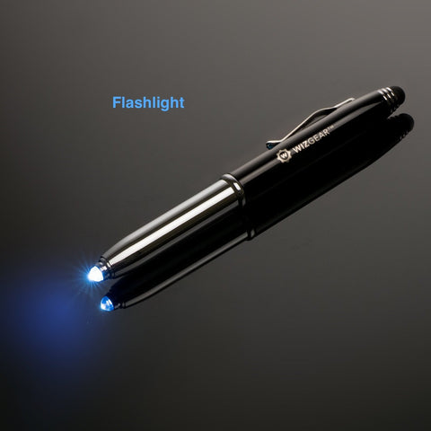 WizGear™ 3-in-1 Stylus Pen - Stylus Pen for Touch Screens with LED Flashlight and Pen (Gunmetal)