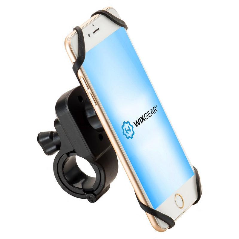 WixGear Universal Magnetic Bicycle & Motorcycle Handlebar Phone Holder for Cell Phones and GPS with Fast Swift-Snap Technology, Magnetic Bike Phone Holder