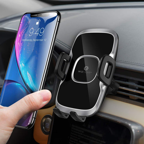 Car Phone Mount, WizGear (2 Pack) Air Vent Swift-Grip Phone Holder for Car, Cell Phone Car Mount Air Vent Holder for Any Smartphone with Twist Lock Base