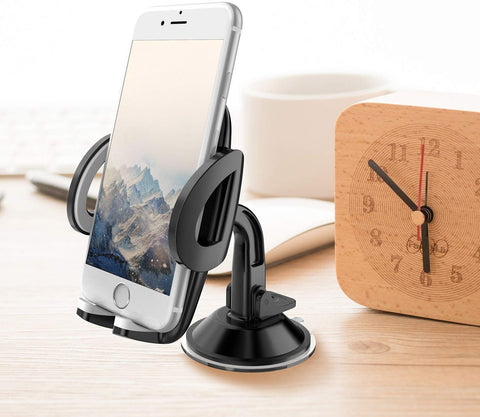 WixGear 3-in-1 Universal Car Phone Mount, Phone Holder for Car, Cell Phone Car Mount Air Vent Holder with Dashboard Mount and Windshield Mount for Cell Phones