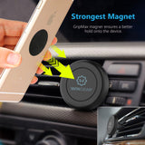 WixGear Universal Air Vent Magnetic Car Mount Holder with Fast Swift-Snap Technology for Smartphones and Mini Tablets, Black