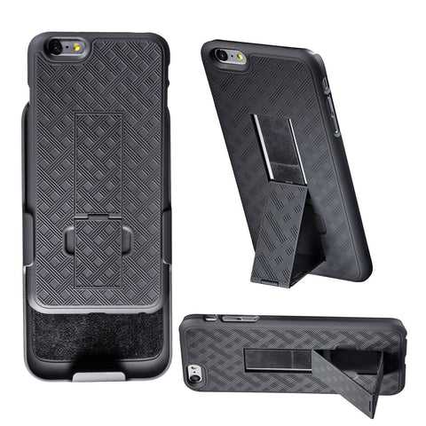 super popular f58ce 20eb8 WizGear™ Shell Holster Combo Case for Apple iPhone 6 PLUS 5.5 Inch Screen  with Kick-Stand & Belt Clip - Fits At&t, Verizon, T-Mobile & Sprint - ...