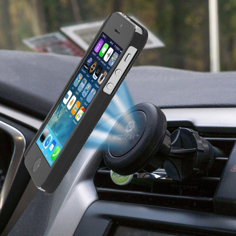 WizGear Universal Air Vent Magnetic Car Mount Holder, for Cell Phones, Mini-Tablets with Fast Swift-Snap (TM) Technology, with an Extended Swivel Head
