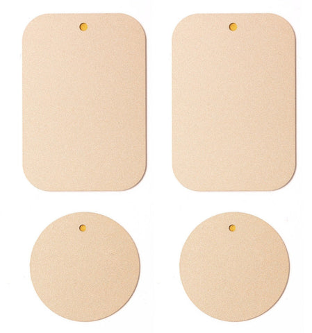 Universal - Compatible with ALL Magnetic and Cradle Less mounts Additional Mount Metal Plates with Adhesive for Magnetic Phone Mounts Pack 2 Rectangle 2 Round