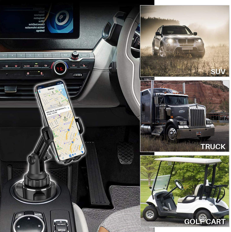 Cup Tablets Holder for Car WixGear Car Cup Holder Tablet and Phone Mount Adjustable Automobile Cup Holder Smart Phone Cradle Car Mount