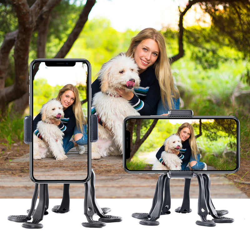 Cell Phone Octopus Tripod, WixGear Universal Smartphone Holder Octopus Tripod 8 Legs for All Smartphones