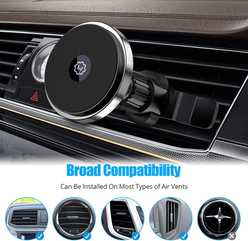 Wireless Magnetic Car Charger, WixGear Wireless Magnetic Air Vent Car Charger, Compatible with iPhone 12 Only