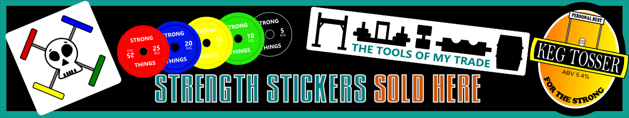 Strong Things Strongman Stickers - Clean and Pressed