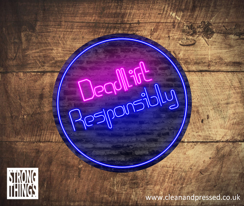 Deadlift Responsibly Vinyl Sticker
