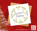 Eight Maids a Lifting Christmas Card