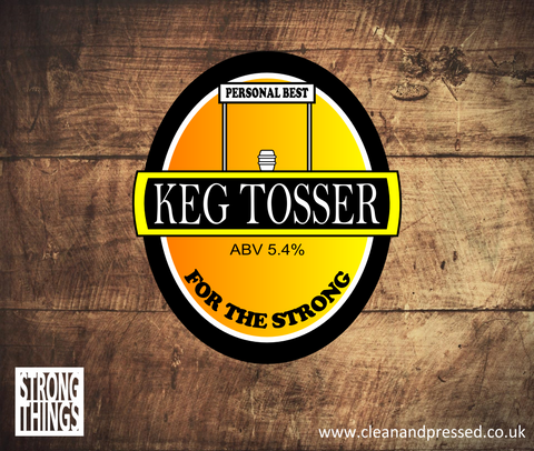 Keg Tosser Vinyl Sticker