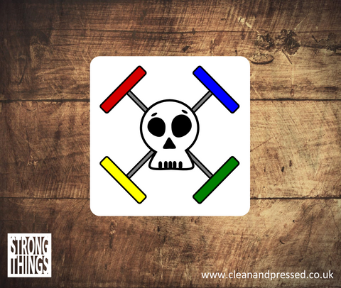 Skull and Crossbones Weight Plates Vinyl Sticker