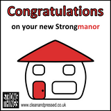 Strongmanor New Home Greetings Card