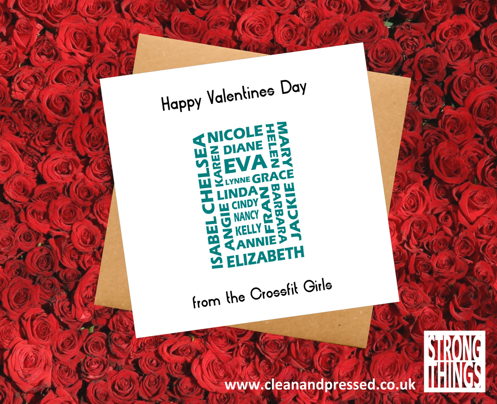 Valentine's Day Crossfit Girls Greetings Card