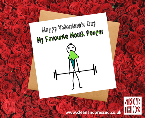 Valentine's Day Vomit deadlift Greetings card