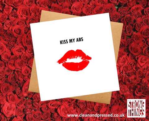 Valentine's Day Kiss My Abs Greetings Card