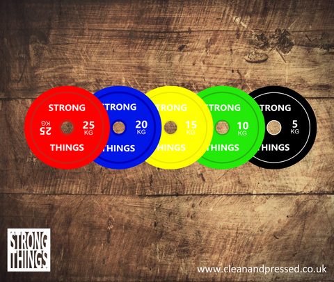 Weight Plate Vinyl Sticker - Strong Things