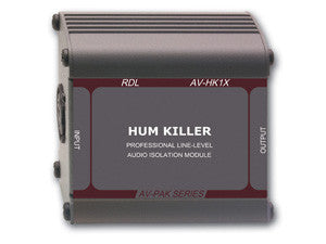 "AV-HK1X ""HUM KILLER"" Audio Isolation Transformer - XLR input and output"