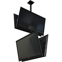 "Dual back to back screen ceiling mounted monitor system with VESA mounting interface for 32"" to 55""+ displays"