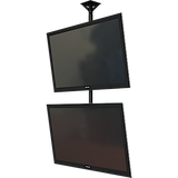 "Dual screen ceiling mounted monitor system with Universal mounting interface for 37-65""+ displays."