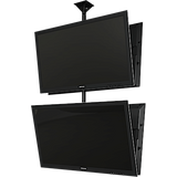 "Dual back to back screen ceiling mounted monitor system with Universal mounting interface for 37"" to 65""+ displays"