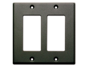 CP-2B Double Cover Plate -Black