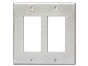 CP-2S Double Cover Plate - stainless steel