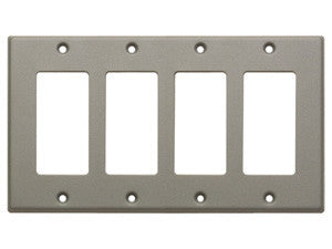CP-4G Quadruple Cover Plate - gray