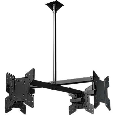 "Ceiling mounted Quad display system for 32"" to 55""+ monitors, includes a VESA mounting interface"