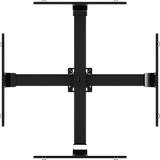 "Ceiling mounted Quad display system for 37"" to 63""+ monitors, includes a Universal mounting interface"