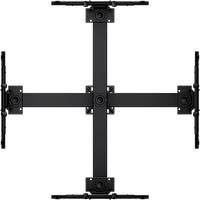 "Ceiling mounted Quad display system for 37"" to 65""+ monitors, includes a Universal mounting interface (??)"