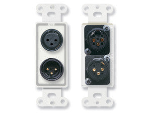 D-XLR2 XLR 3-pin Female & 3-pin Male on Decora® Wall Plate - Solder type