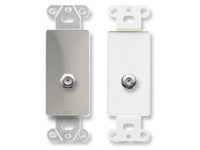 DS-F Double Type F Jack on Decora® Wall Plate - Stainless steel