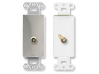 DS-PHN1 Single RCA Jack on Decora® Wall Plate - Solder type - Stainless steel