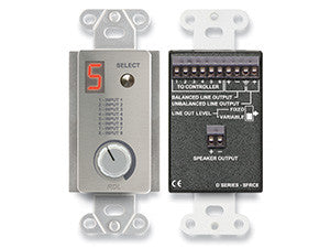 DS-SFRC8 Room Control Station for SourceFlex Distributed Audio System
