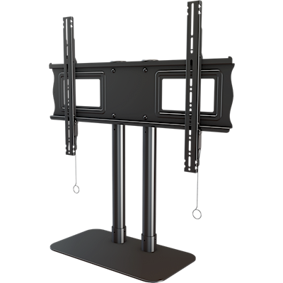 Single monitor desktop stand for extra large displays