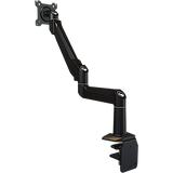 Dual link desktop arm with edge clamp-mounting base