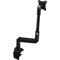 Dual link desktop arm with flat-mounting base