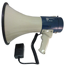 25 watt Piezo Dynamic Power Megaphone with Built-In Siren and Hand-Held Microphone