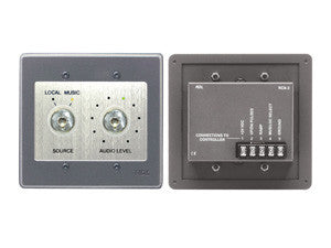 RCX-3S Room Control for RCX-5C Room Combiner - Stainless