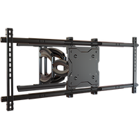 "NEW Robust Series Articulating mount for large-format 70 to 90"" TVs with heavy-duty smooth action dual scissor arm and post-installation leveling"