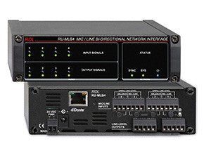 RU-MLB4 Mic/Line Bi-Directional Network Interface