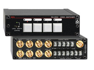 RU-VSX4 Video Switcher - 4x1 - BNC