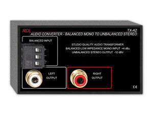 TX-A2 Audio Converter - Balanced to Unbalanced