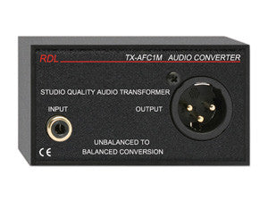 TX-AFC1M Unbalanced to Balanced Audio Transformer - RCA, XLR